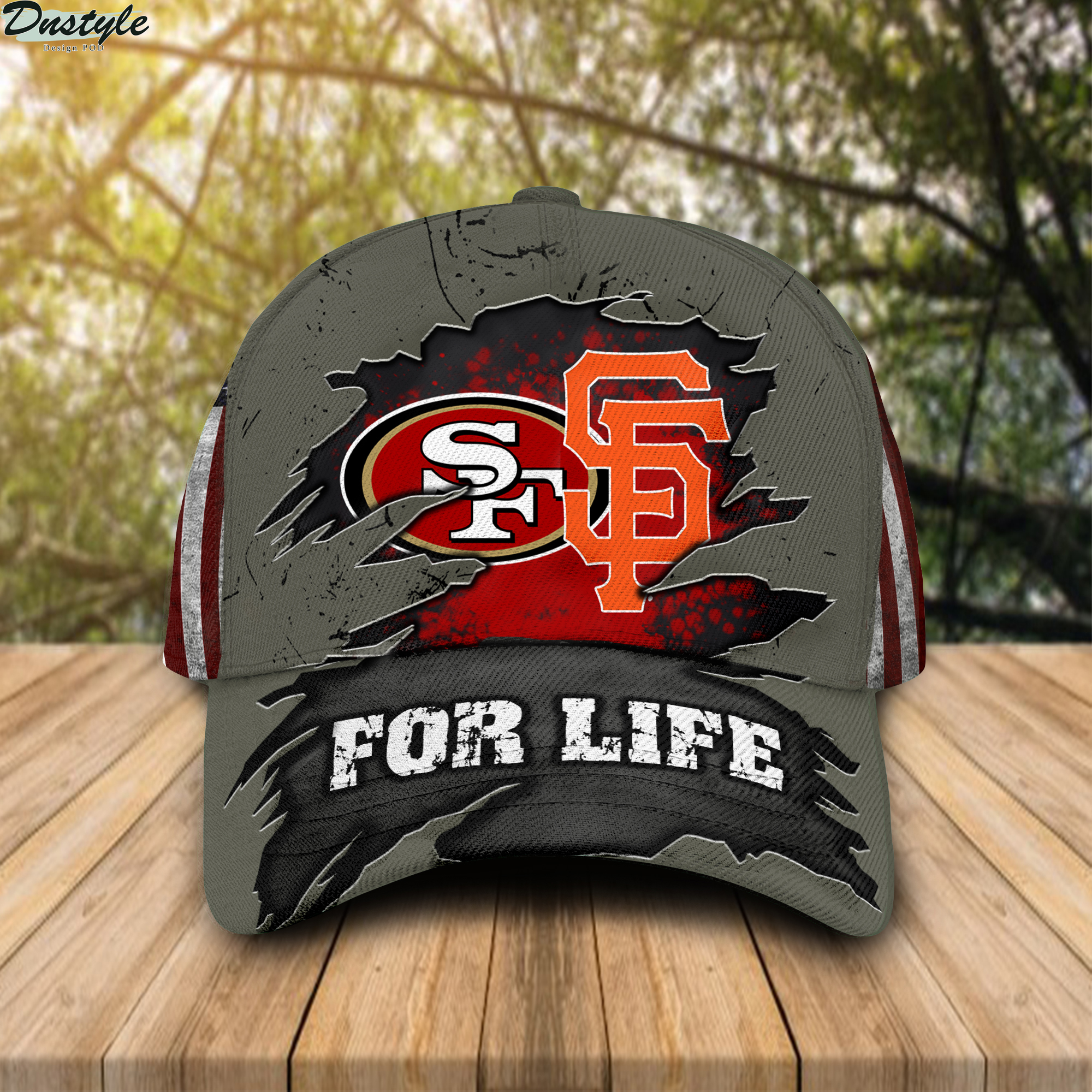 San Francisco 49ers And San Francisco Giants For Life All Over Print Cap