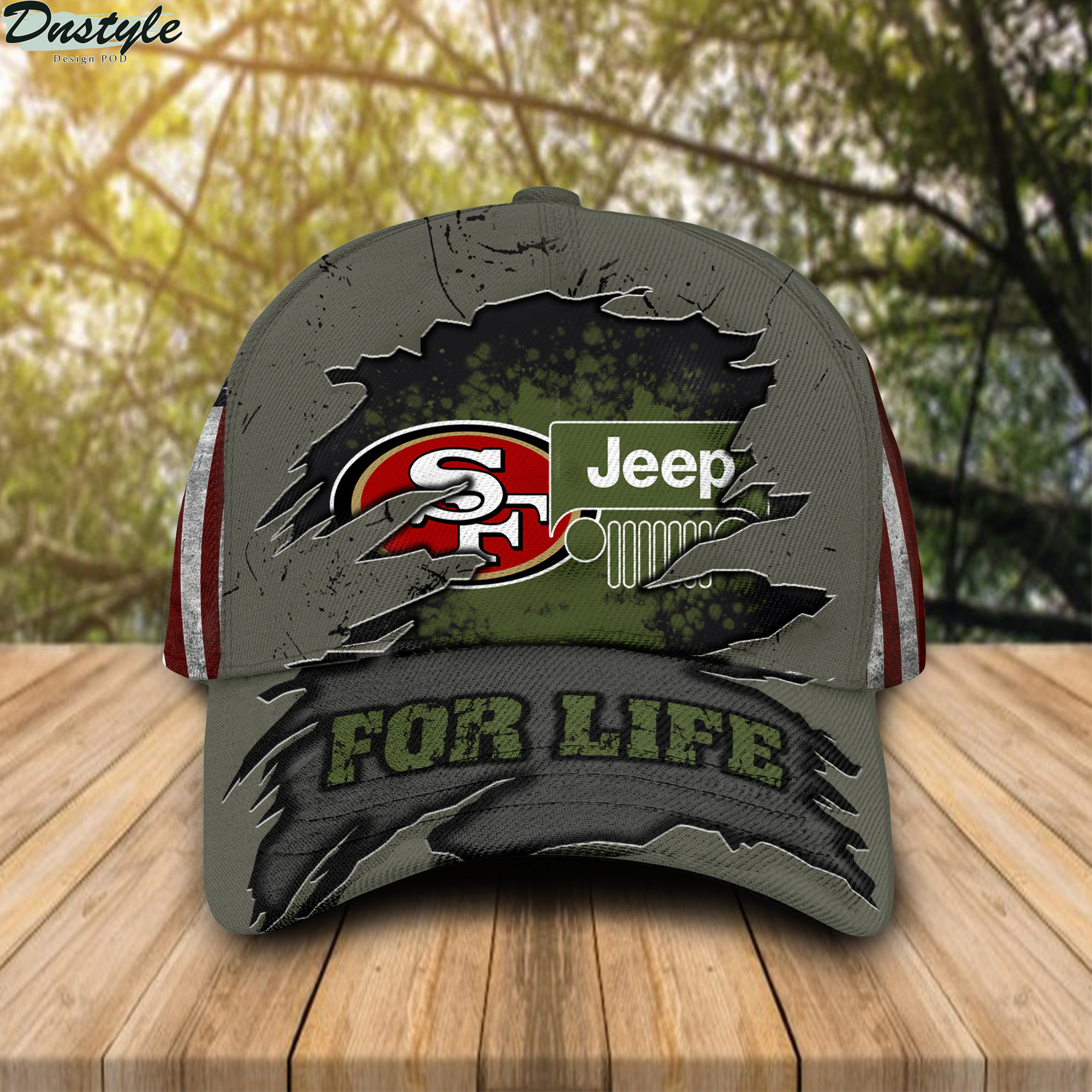 San Francisco 49ers Jeep For Life Cap