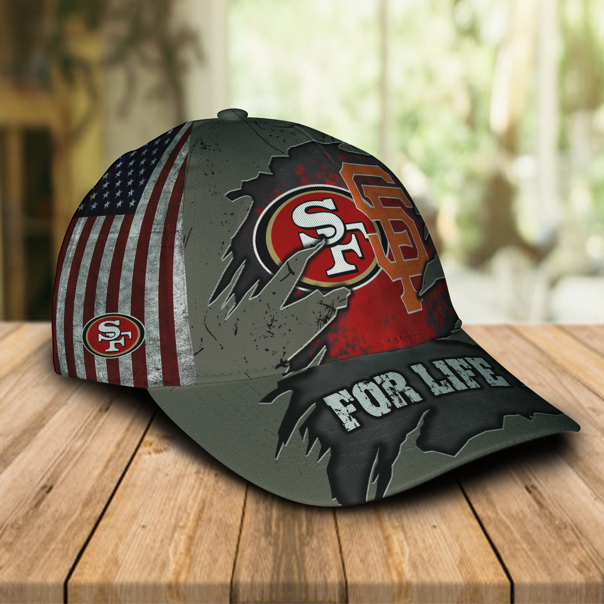 San francisco 49ers and san francisco giants for life cap 1