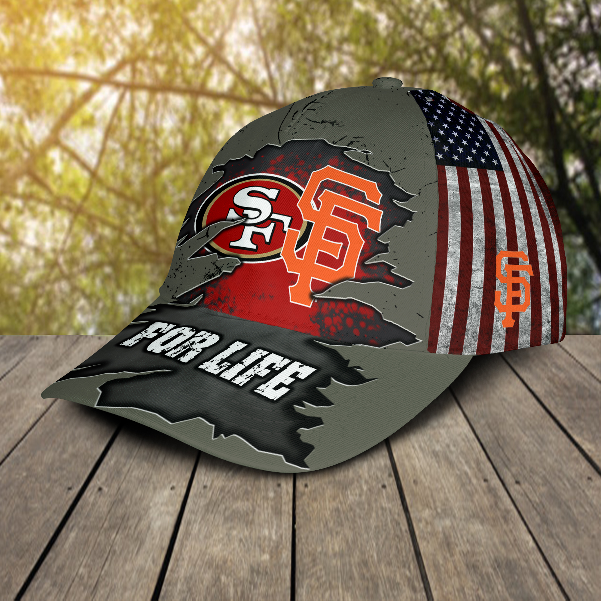 San francisco 49ers and san francisco giants for life cap 2