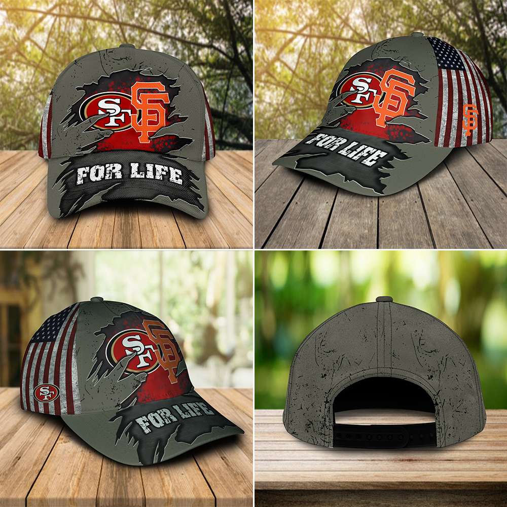 San francisco 49ers and san francisco giants for life cap 3
