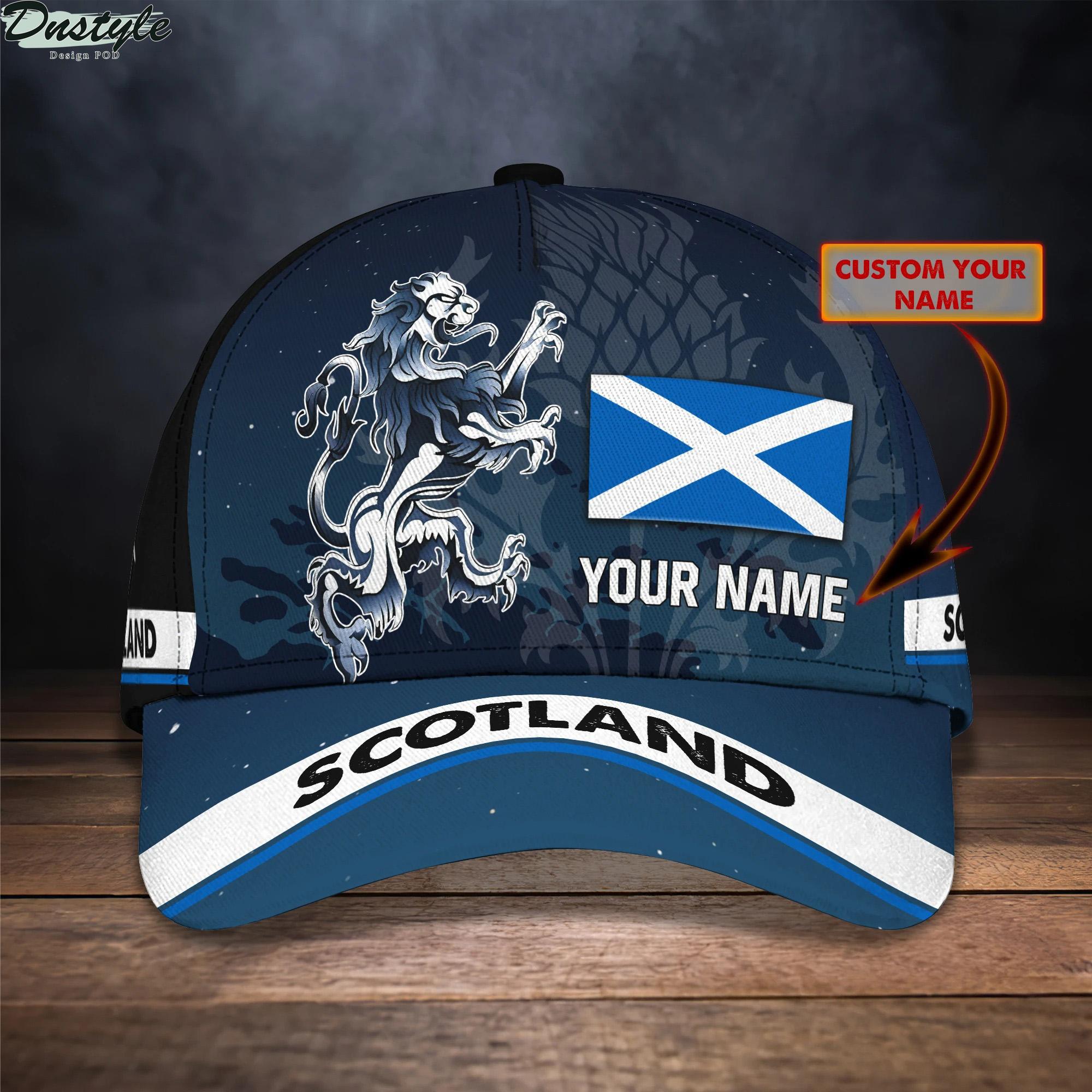 Scotland personalized name cap