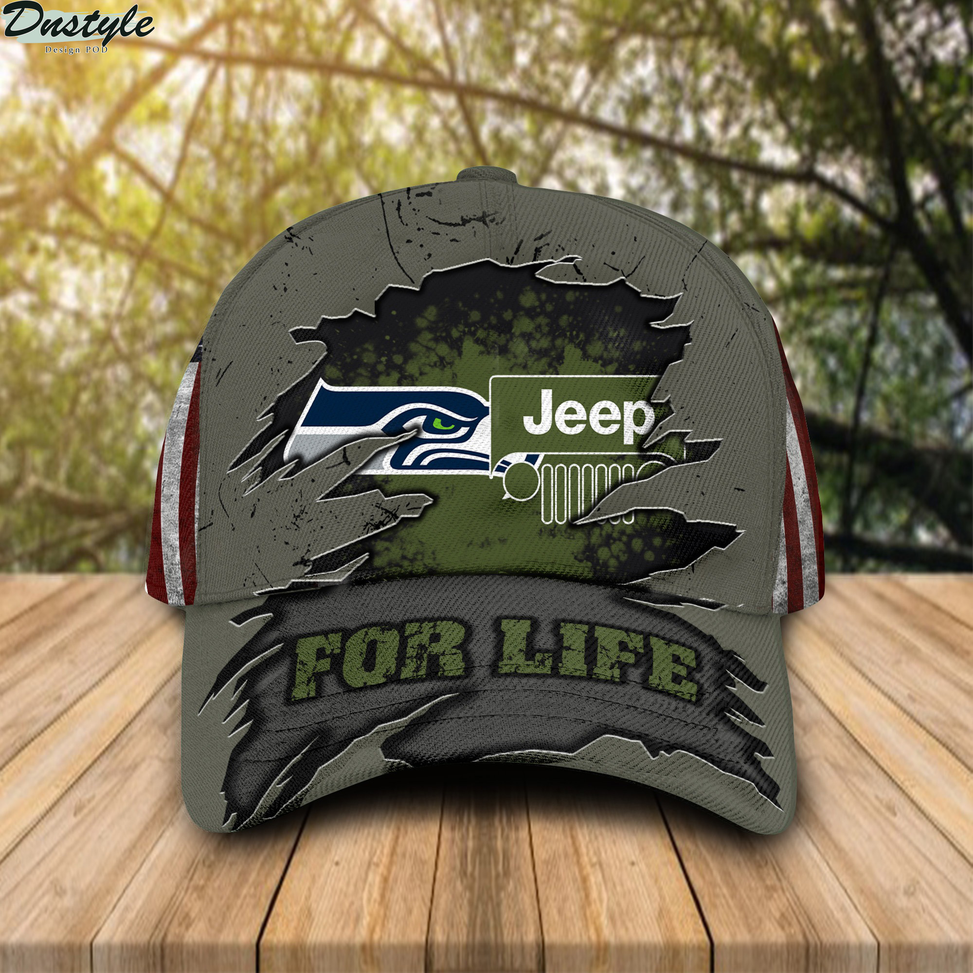 Seattle Seahawks Jeep For Life Cap