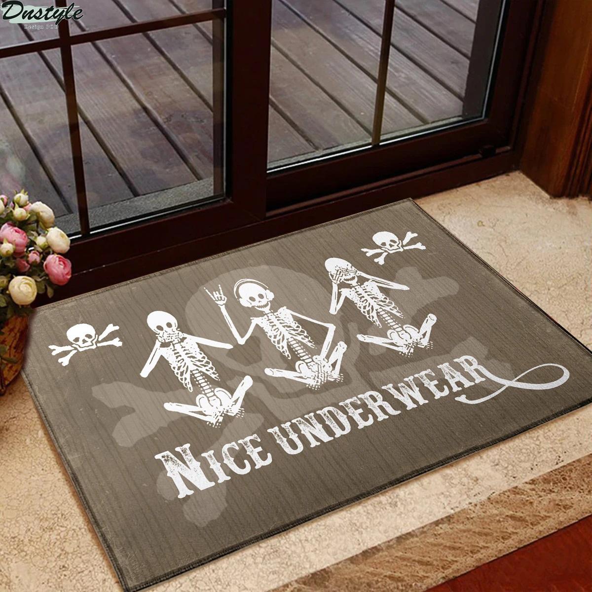 Skeleton Nice Underwear Doormat