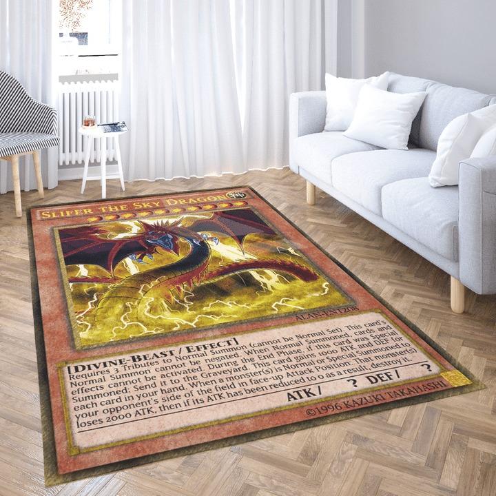 Slifer the sky dragon yugioh card rug 1