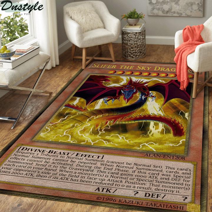 Slifer the sky dragon yugioh card rug