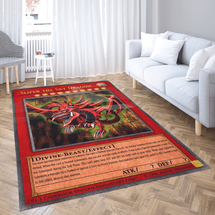 Slifer the sky dragon yugioh rug 1