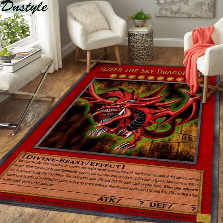 Slifer the sky dragon yugioh rug