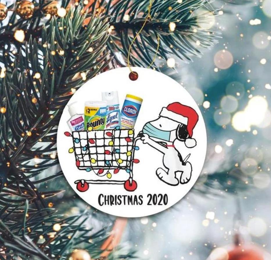 Snoopy shoppong Christmas 2020 Christmas Ornament