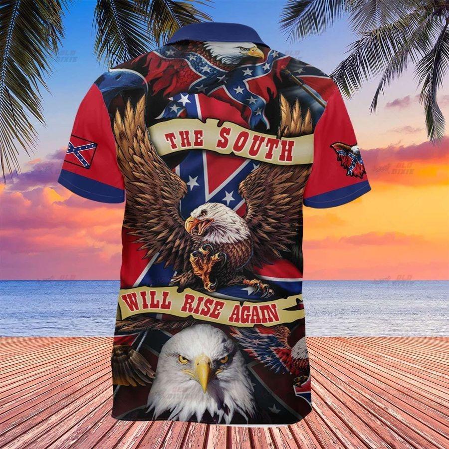 Southern confederate flag the south will rise again hawaiian shirt 1