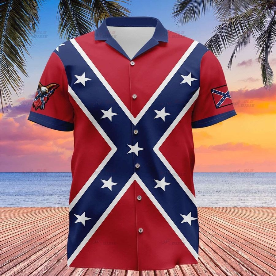 Southern confederate flag the south will rise again hawaiian shirt 2