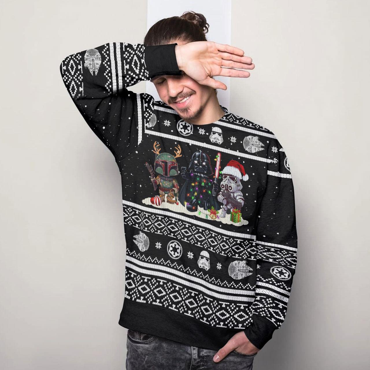 Star wars darth vader ugly christmas sweater 1