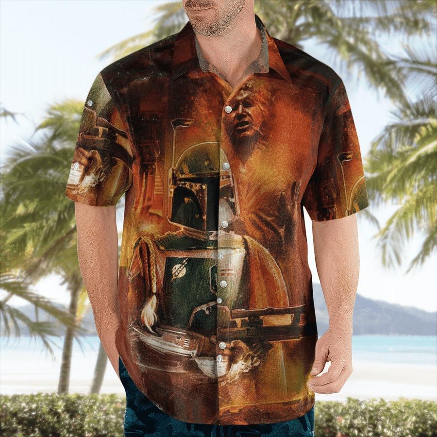 Star wars han solo carbonite hawaiian shirt 1