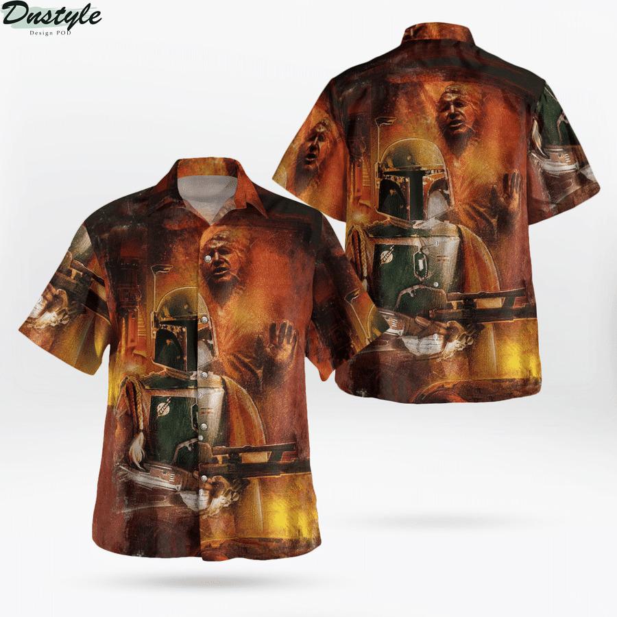 Star wars han solo carbonite hawaiian shirt