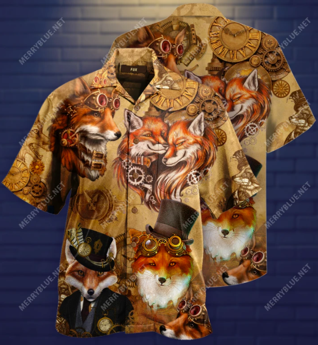 Steampunk Fox hawaiian shirt