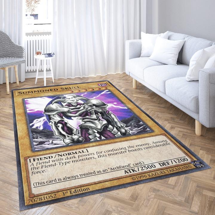 Summoned skull card rug 1