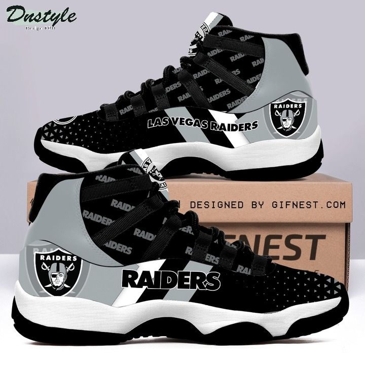 Las vegas raiders NFL air jordan 11 shoes