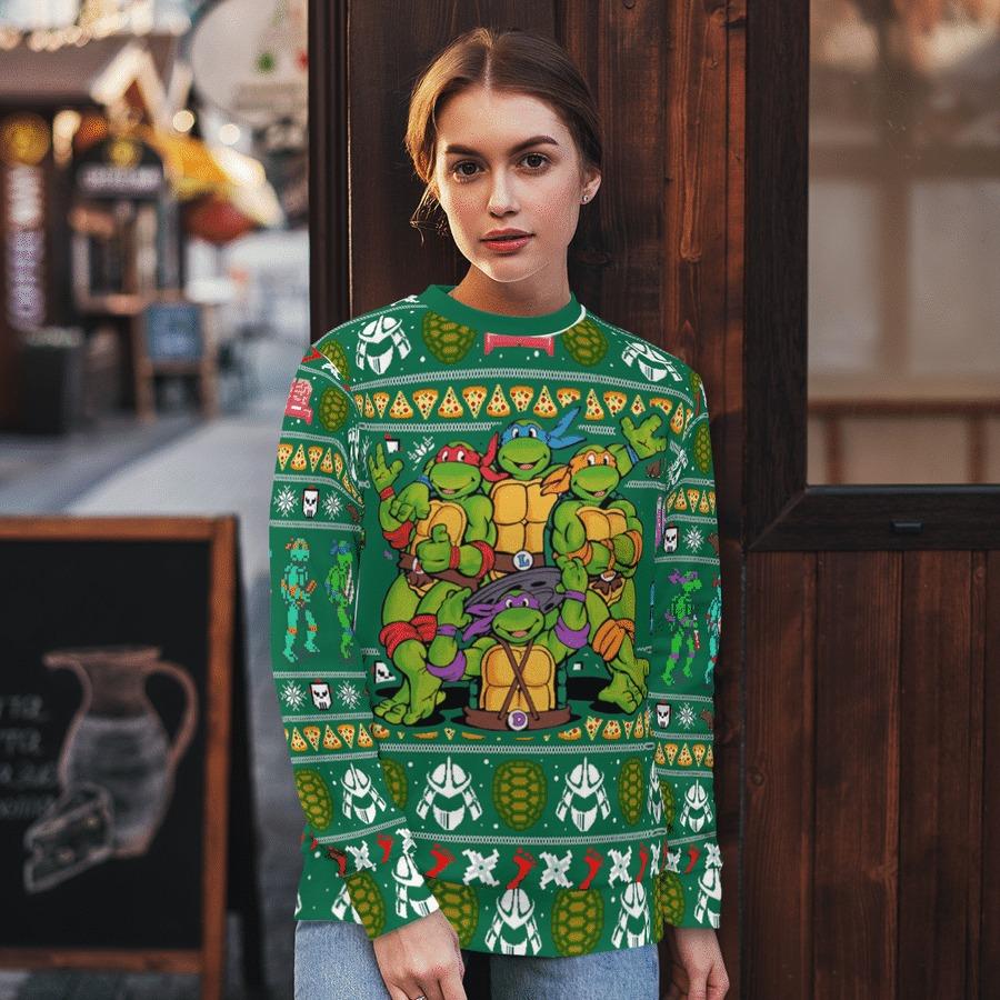 TMNT Teenage Mutant Ninja Turtles Ugly Christmas Sweater 1