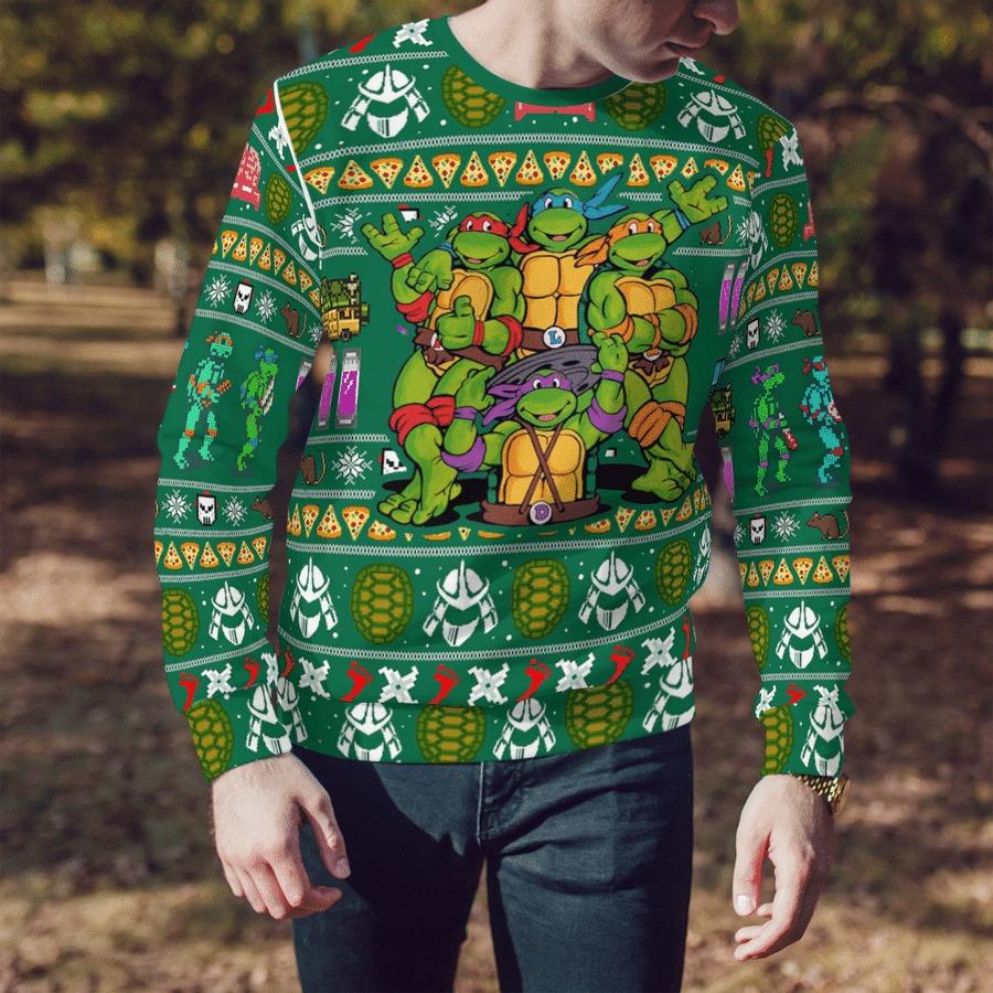 TMNT Teenage Mutant Ninja Turtles Ugly Christmas Sweater 2
