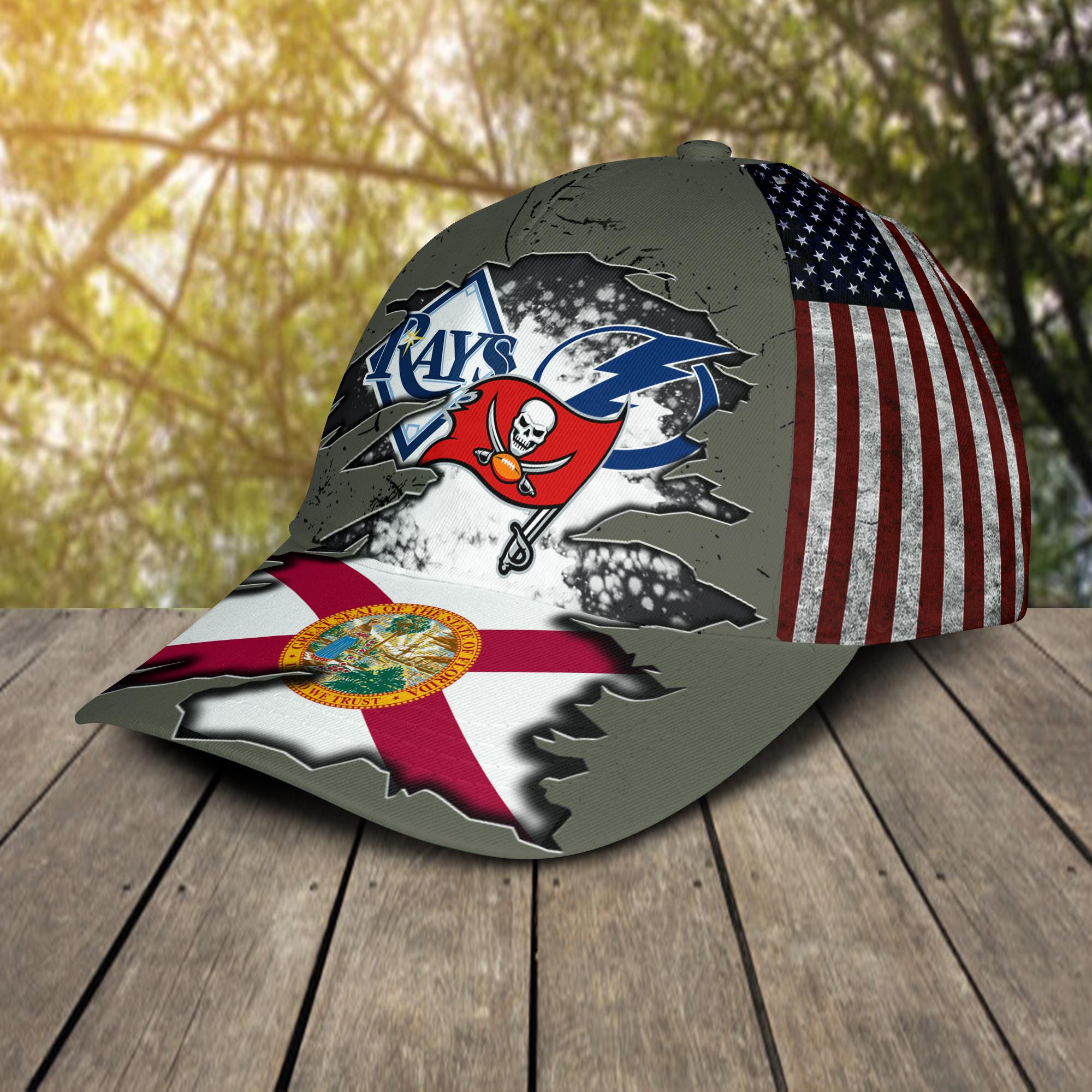 Tampa Bay Buccaneers Tampa Bay Lightning Tampa Bay Rays Cap 2