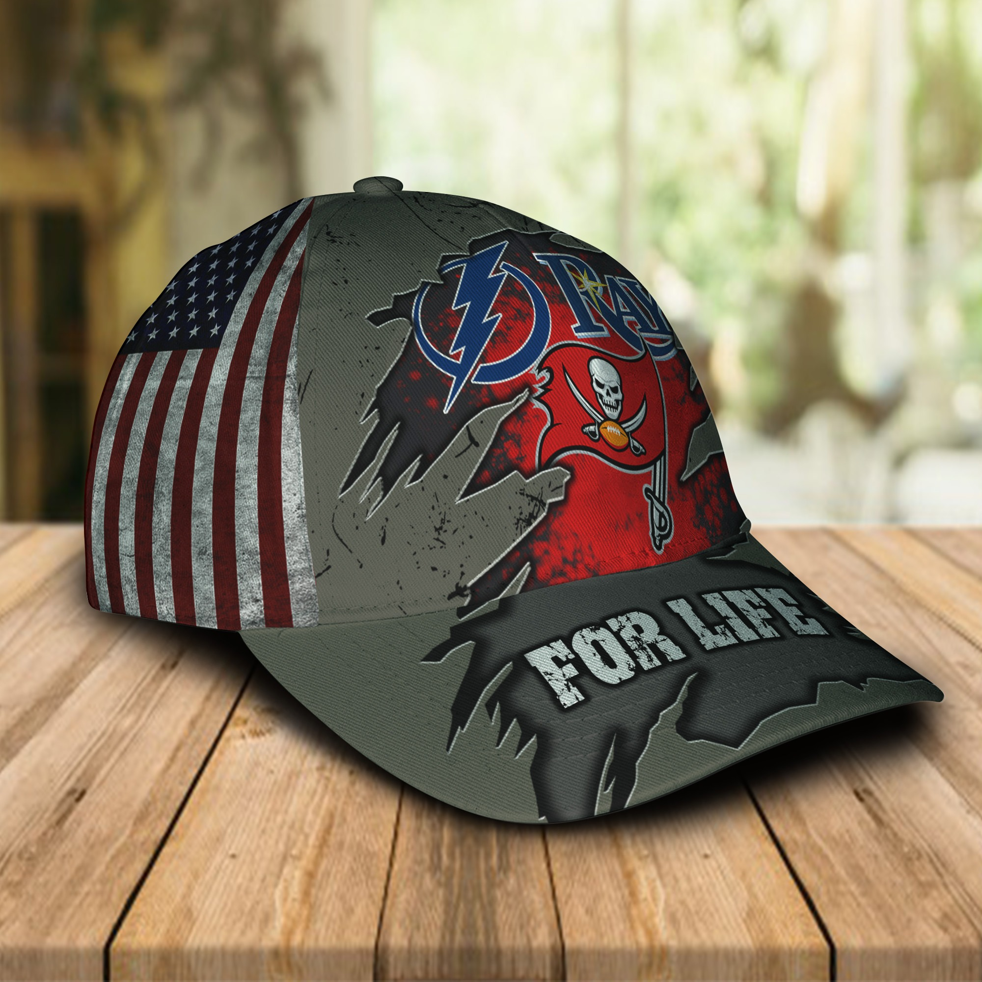 Tampa Bay Lightning Buccaneers Rays for life cap 1