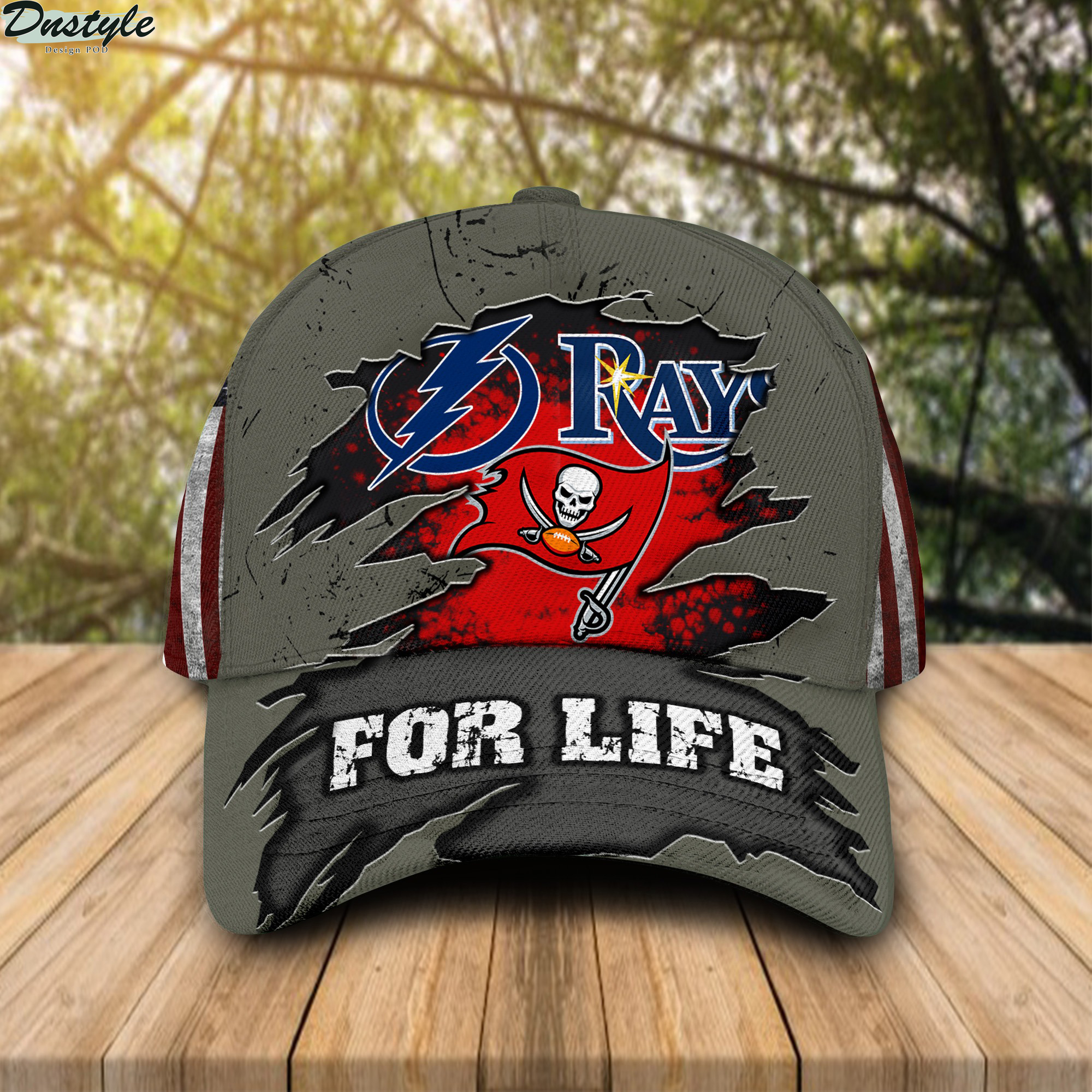 Tampa Bay Lightning Buccaneers Rays for life cap
