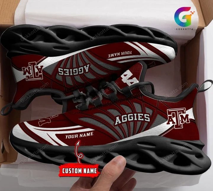 Texas a&m aggies NCAA personalized max soul shoes 1