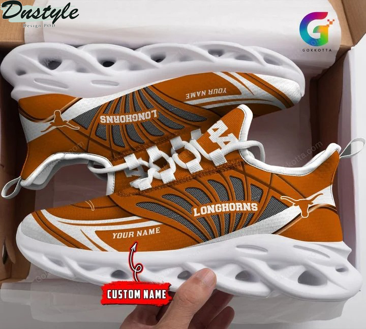 Texas longhorns NCAA personalized max soul shoes