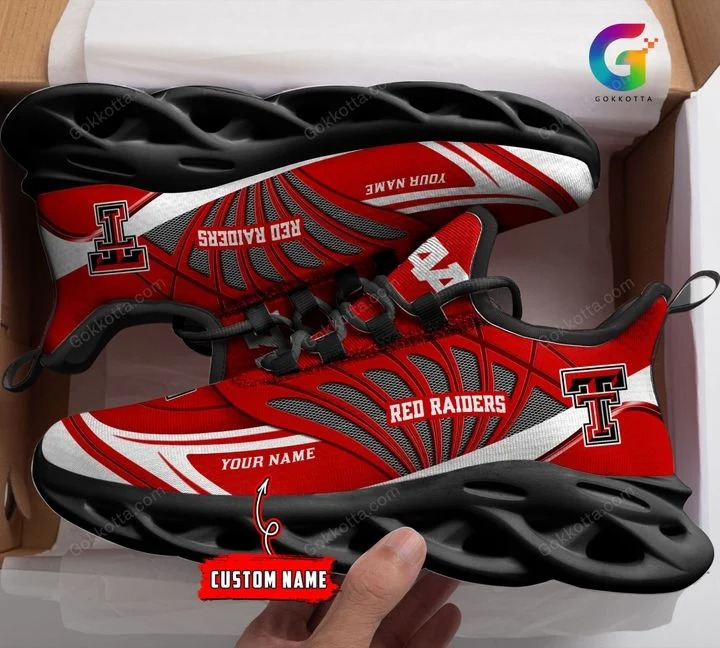 Texas tech red raiders football NCAA personalized max soul shoes 1