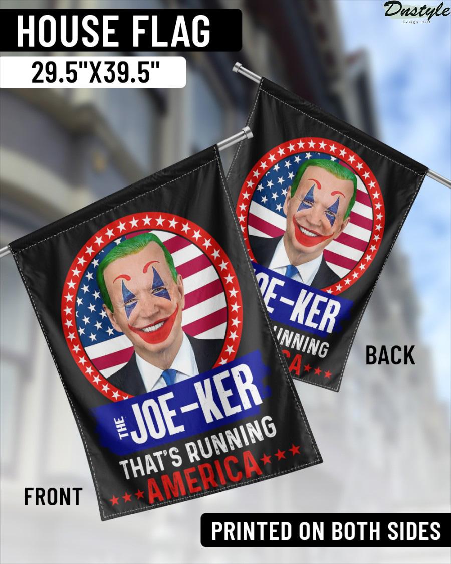 The Joe-ker that's running america flag