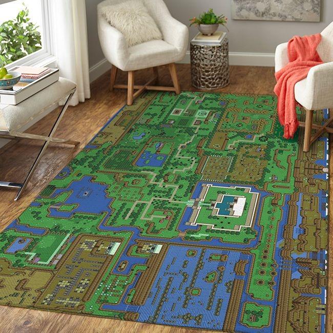 The Legend of Zelda Map Rug 1