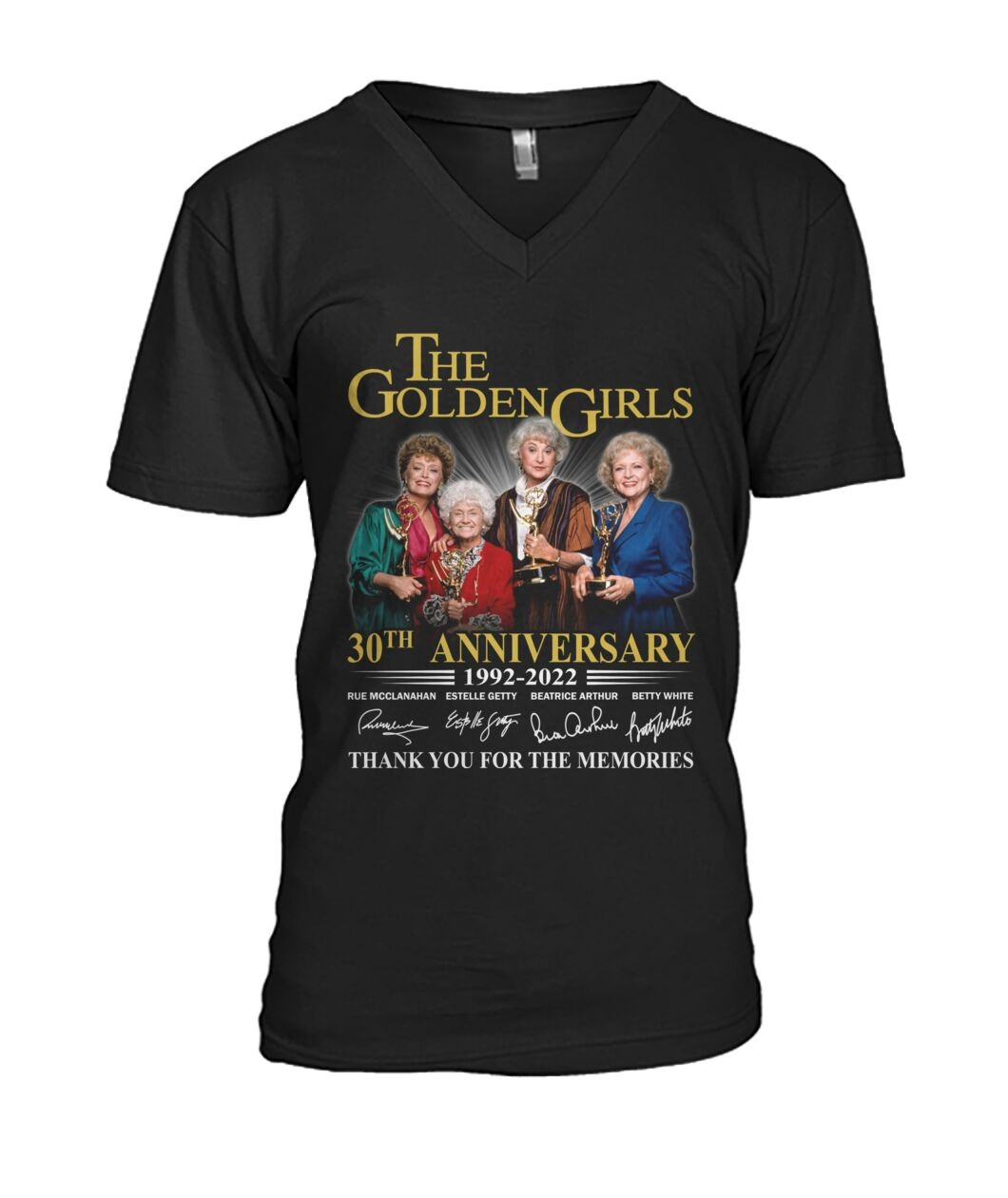 The golden girls 30th anniversary 1992 2022 thank you for the memories v-neck
