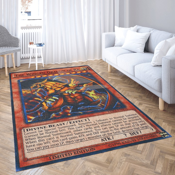 The winged dragon of ra card rug 1