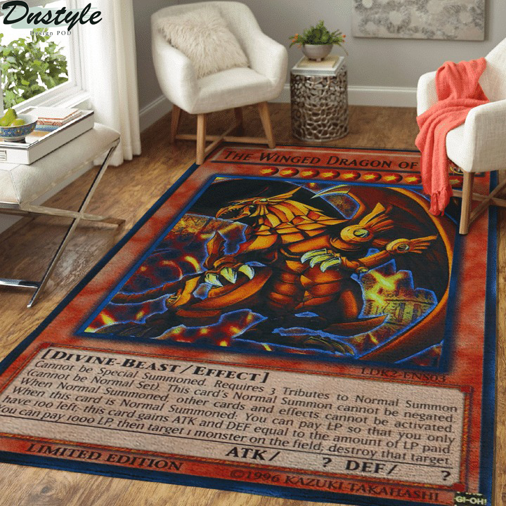 The winged dragon of ra card rug