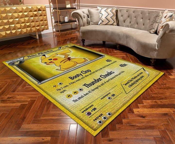 Thicc pikachu pokemon card rug 1