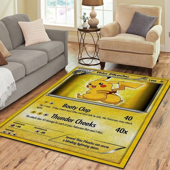 Thicc pikachu pokemon card rug 2