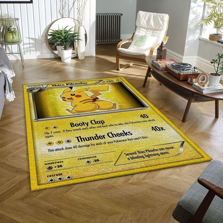 Thicc pikachu pokemon card rug 3