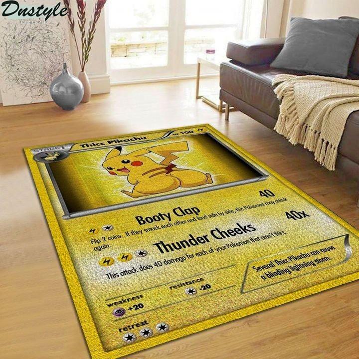 Thicc pikachu pokemon card rug