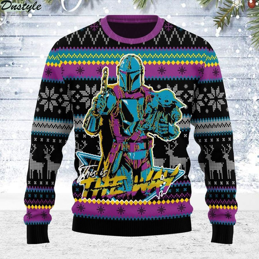 This is the way star wars mandalorian song ugly sweater