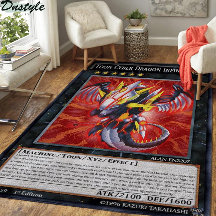 Toon cyber dragon infinity card rug
