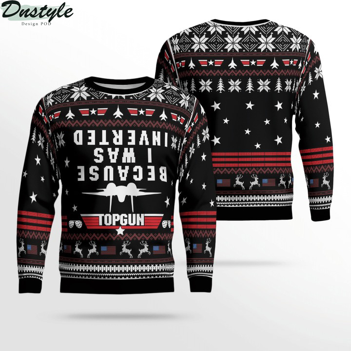 Top gun because i was inverted ugly sweater