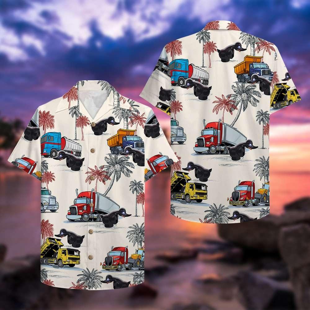 Truck black duck hawaiian shirt 1
