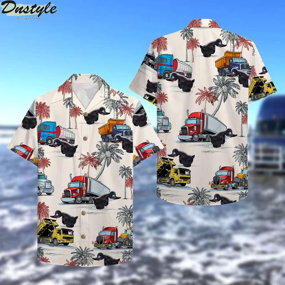 Truck black duck hawaiian shirt