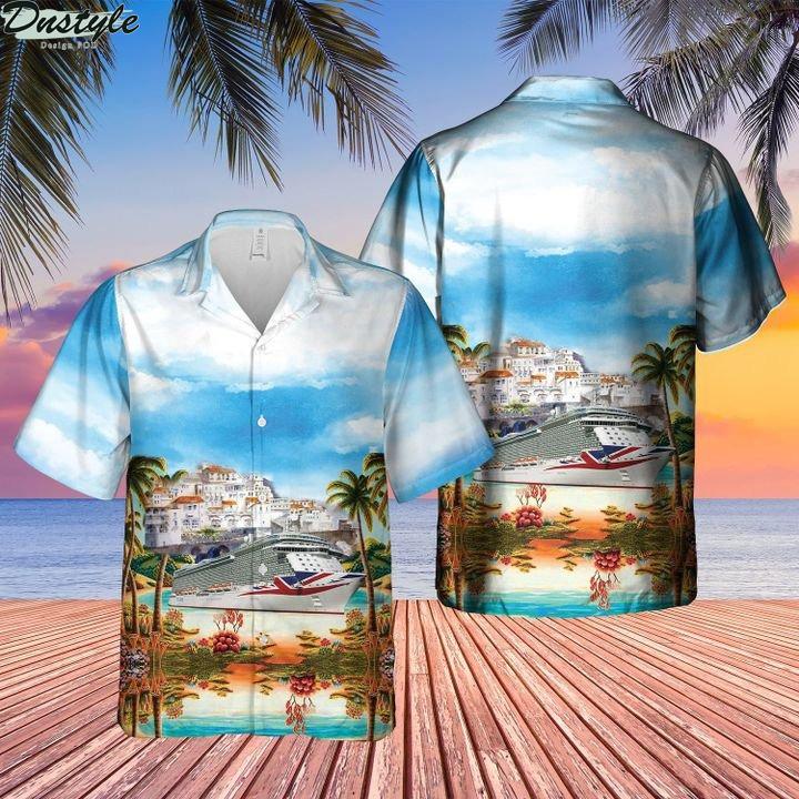 UK p&o cruises mv britannia hawaiian shirt