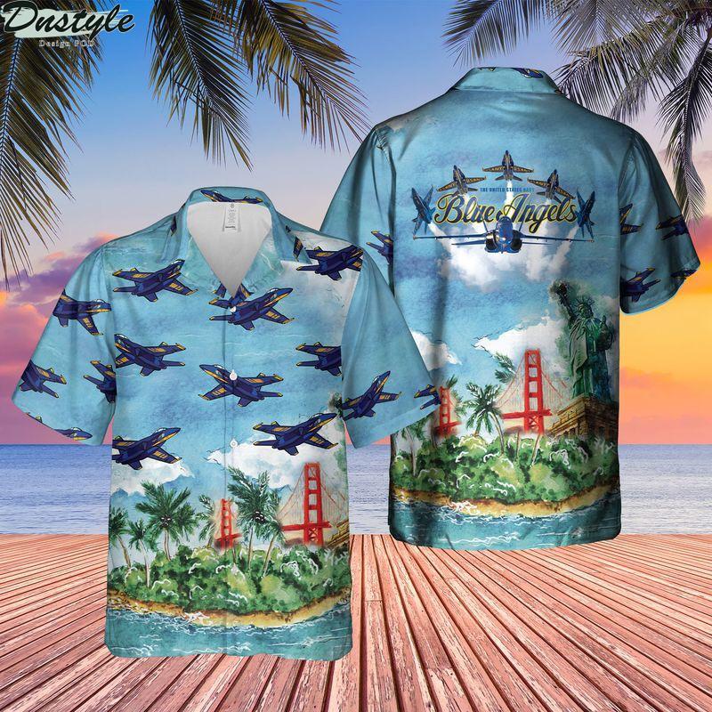 US Navy Blue Angels Hawaiian Shirt