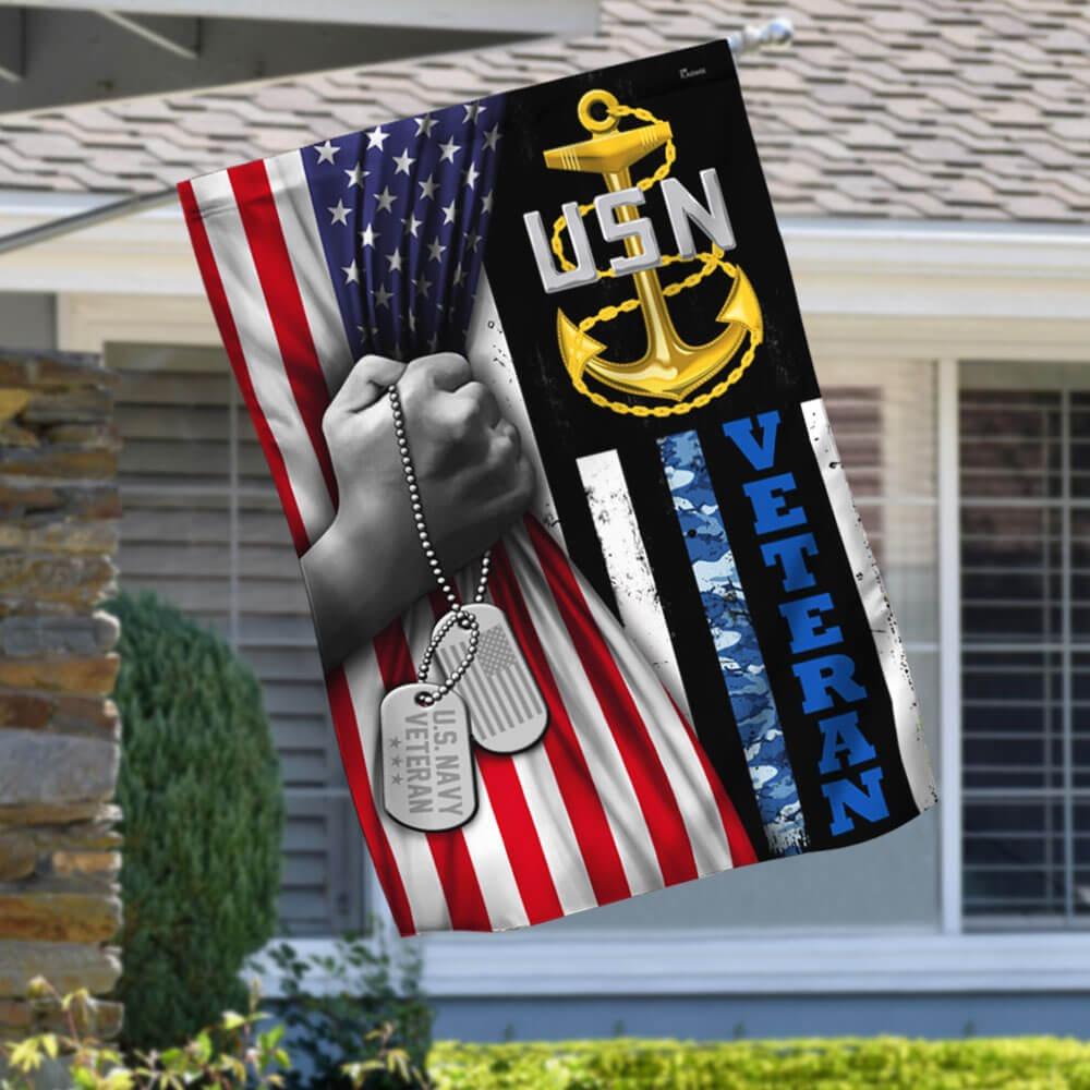US Navy Veteran Flag 1
