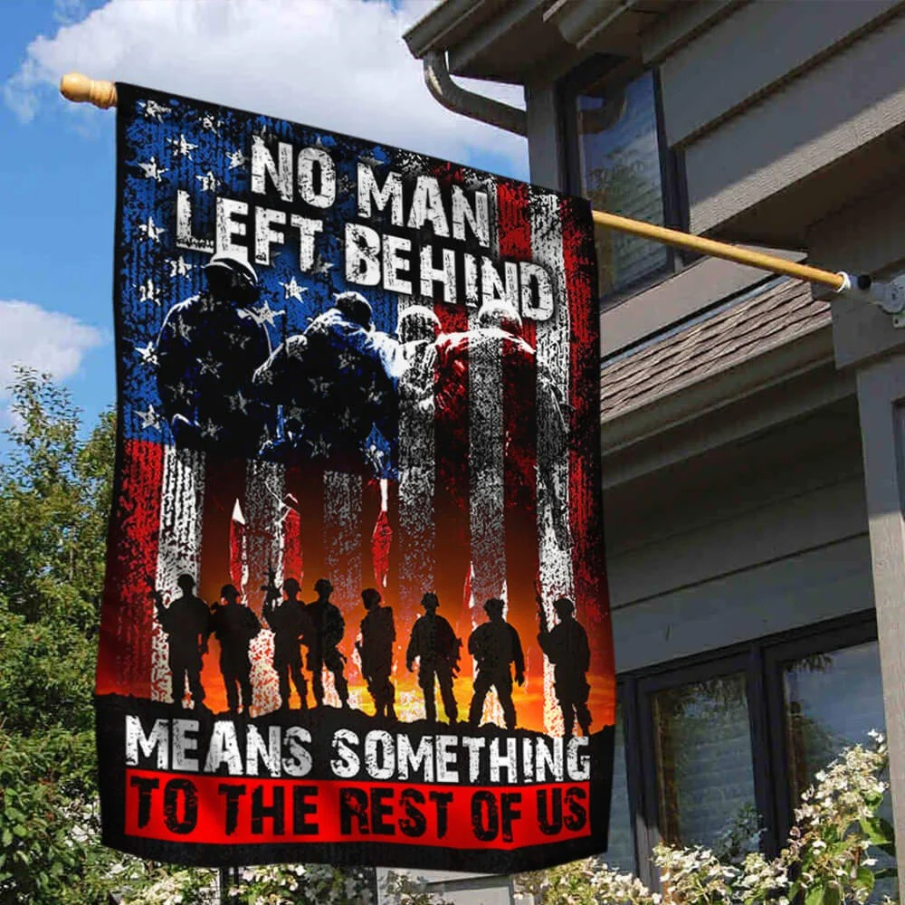 US Veteran no man left behind mean something to rest of us flag 1