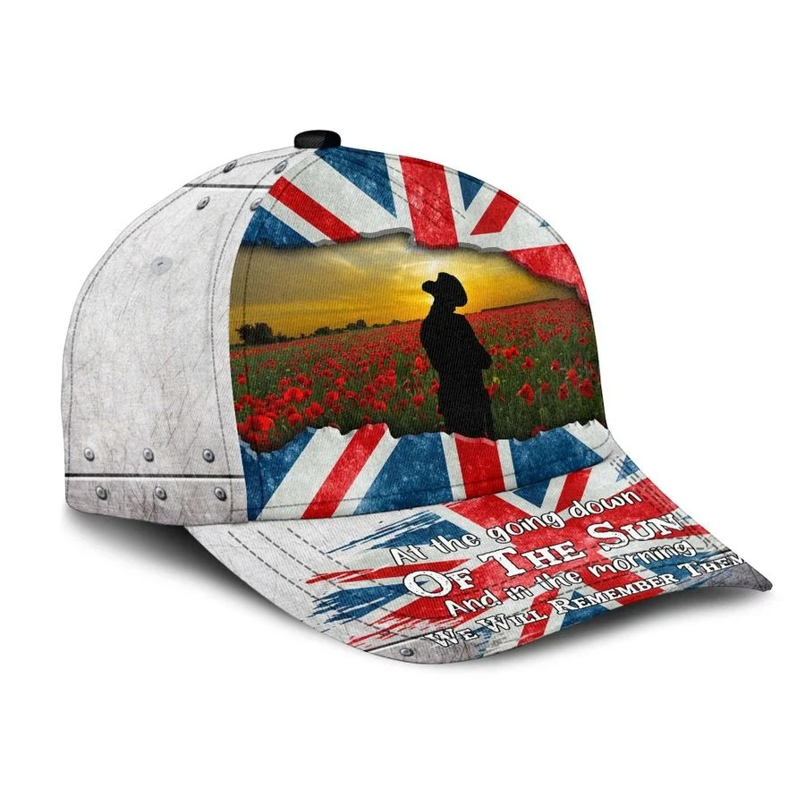 Uk lest we forget at the going down of the sun and in the morning we will remember them cap 2