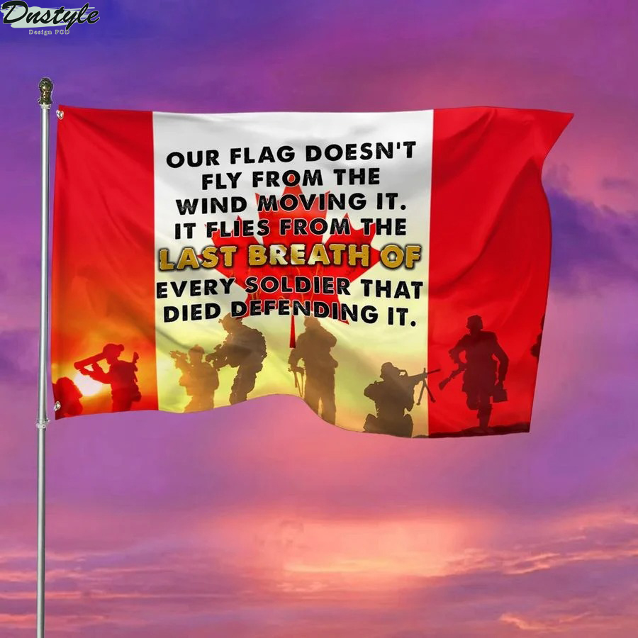 Veteran's day our flag doesn't fly from the wind moving it canadian flag