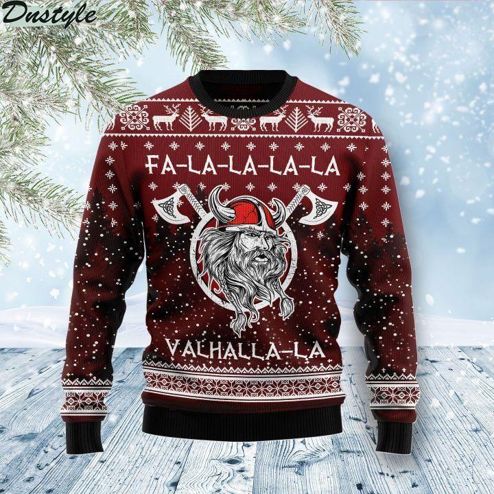 Vikings fa la la la ugly christmas sweater